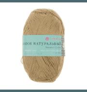 Пряжа Пехорка Хлопок натуральный Цвет.124 Песочный