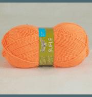 Пряжа Семеновская Суфле Цвет.Апельсин 142