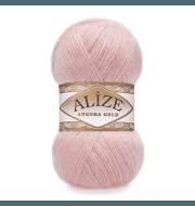 Пряжа Alize Angora Gold Цвет.363 Св.розовый