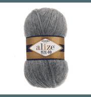 Пряжа Alize Angora Real 40 Цвет.182 Средне-Серый