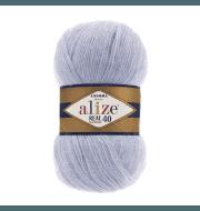 Пряжа Alize Angora Real 40 Цвет.51 Светло-Голубой