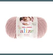 Пряжа Alize Baby Wool Цвет.161 Пудра