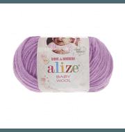 Пряжа Alize Baby Wool Цвет.672 Сиреневый