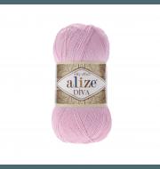 Пряжа Alize Diva Цвет.291 Нежно розовый