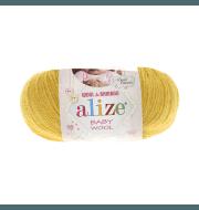 Пряжа Alize Baby Wool Цвет.216 Желтый