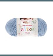 Пряжа Alize Baby Wool Цвет.350 Св.голубой