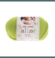 Пряжа Alize Baby Wool Цвет.612 Фисташка