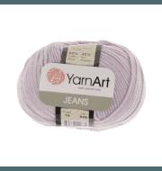 Пряжа YarnArt Jeans Цвет.19 Светло-сиреневый