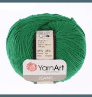 Пряжа YarnArt Jeans Цвет.52 Зеленый