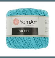 Пряжа YarnArt Violet Цвет.0008 Голубой