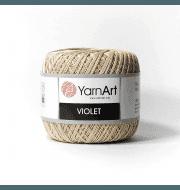 Пряжа YarnArt Violet Цвет.4660 Бежевый