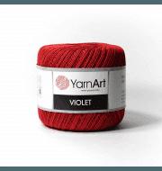Пряжа YarnArt Violet Цвет.5020 Темно красный