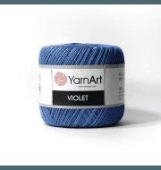 Пряжа YarnArt Violet Цвет.5351 Синий