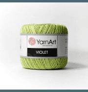Пряжа YarnArt Violet Цвет.5352 Салатовый