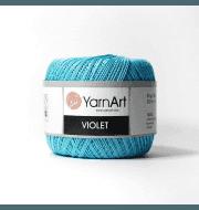 Пряжа YarnArt Violet Цвет.5353 Бирюзовый