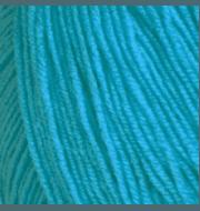 Пряжа Пехорка Детская объёмная Цвет.45 Т.бирюза (100гр)