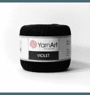 Пряжа YarnArt Violet Цвет.0999 Черный