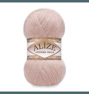 Пряжа Alize Angora Gold Цвет.161 Розовая пудра