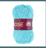 Пряжа VITA Rose Цвет.3909 Светлая голубая бирюза