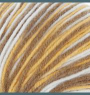 Пряжа Троицкая Кроха Цвет.4124 корич.желто.белый