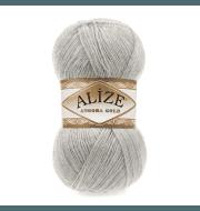 Пряжа Alize Angora Gold Цвет.652 Натурально-серый