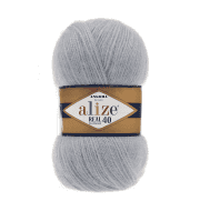 Пряжа Alize Angora Real 40 Цвет.21 Серый