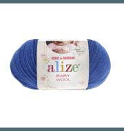 Пряжа Alize Baby Wool Цвет.141 Василек