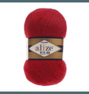 Пряжа Alize Angora Real 40 Цвет.56 Красный