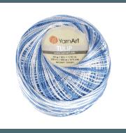 Пряжа YarnArt Tulip Цвет.446 Бело - голубой