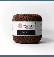 Пряжа YarnArt Violet Цвет.0077 Коричневый