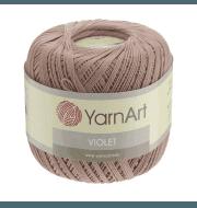 Пряжа YarnArt Violet Цвет.0015 Темно бежевый