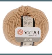 Пряжа YarnArt Jeans Цвет.7 Светло бежевый