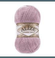Пряжа Alize Angora Gold Цвет.295 Розовая сирень