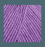 Пряжа YarnArt Jeans Цвет.72 Ярко- сиреневый