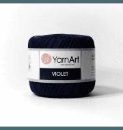 Пряжа YarnArt Violet Цвет.0066 Черно синий