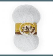 Пряжа Adelia Brilliant 01 белый