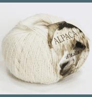 Пряжа Seam Alpaca de Italia Цвет.25 Молочный