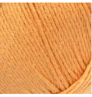 Пряжа Пехорка Хлопок натуральный Цвет.186 Манго