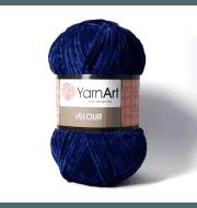 Пряжа YarnArt Velour Цвет. 848 Т.синий