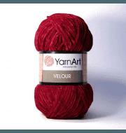 Пряжа YarnArt Velour Цвет. 847 Бордо