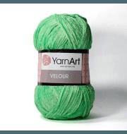 Пряжа YarnArt Velour Цвет. 861 Салат яркий