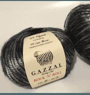 Пряжа GAZZAL Rock n Roll Цвет. 13285 Черный-серый