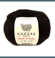 Пряжа GAZZAL Rock n Roll Цвет. 4215 Черный