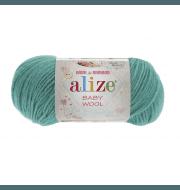 Пряжа Alize Baby Wool Цвет.610 Изумруд