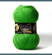 Пряжа Color City Angora кролик Цвет.2450 Зеленый