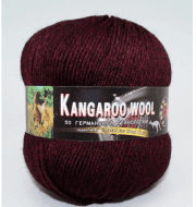 Пряжа Color City Kangaroo wool Цвет.906 Бордо меланж