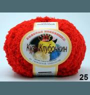 Пряжа Color City Кузя Клубочкин Цвет.25 Красный