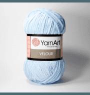 Пряжа YarnArt Velour Цвет. 851 Светло голубой