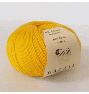 Пряжа GAZZAL Baby Cotton Gazzal Цвет.3417 Желтый