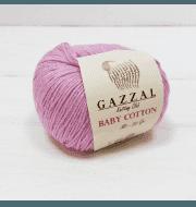 Пряжа GAZZAL Baby Cotton Gazzal Цвет.3422 Сухая роза